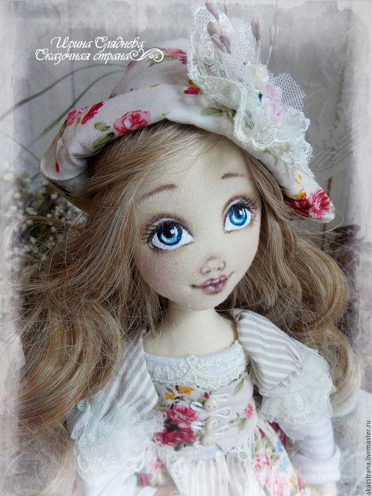 Коллекционные куклы ручной работы. Ярмарка Мастеров - ручная работа. Купить Кукла интерьерная Элен. Handmade. Бежевый, авторская кукла