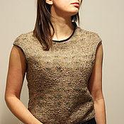 """Одежда ручной работы. Ярмарка Мастеров - ручная работа Джемпер валяный """"Капучино"""". Handmade."""