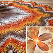 Шаль Grey-orange, из 100 % шерсти
