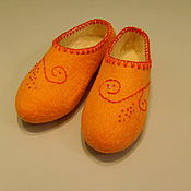 Обувь ручной работы handmade. Livemaster - original item Slippers felted wool