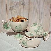 Посуда ручной работы. Ярмарка Мастеров - ручная работа Чашки Цветы и бабочки. Handmade.
