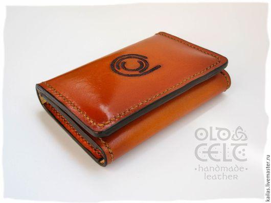 Кожаный кошелёк с тиснением