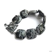 Украшения handmade. Livemaster - original item Gabbro Bracelet. Natural stone, accessories by Anna Chernykh. Handmade.