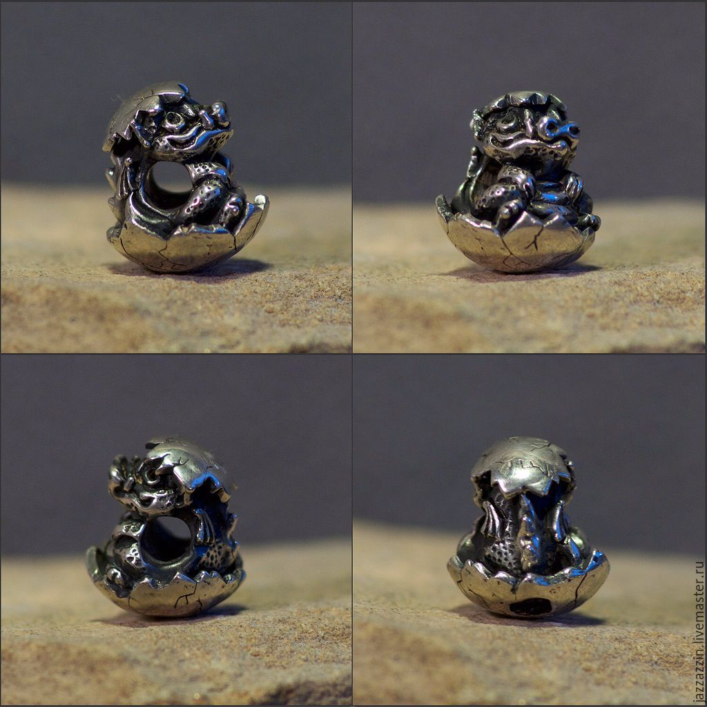 All for Jewelry Making handmade. Livemaster - handmade. Buy Hetched Little Dragon charm.Charm, dragon, bead, trollbeads