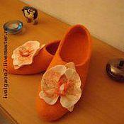 """Обувь ручной работы. Ярмарка Мастеров - ручная работа Тапочки """"Фаленопсис"""". Handmade."""