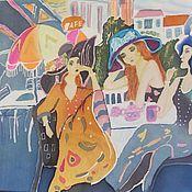 Картины и панно ручной работы. Ярмарка Мастеров - ручная работа Парижанки. Handmade.
