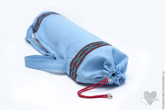 Рюкзаки ручной работы. Ярмарка Мастеров - ручная работа. Купить чехол для йога коврика. Handmade. Бирюзовый, Джинсовая ткань