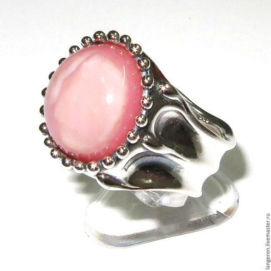 Кольца ручной работы. Ярмарка Мастеров - ручная работа. Купить Серебряное кольцо с розовым перуанским опалом. Handmade. Кольцо