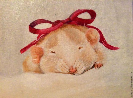 Мышонок маленький отличный подарок на свадьбу)уже в белом нежном багете