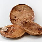Наборы посуды ручной работы. Ярмарка Мастеров - ручная работа Наборы посуды: поднос и две тарелки. Handmade.