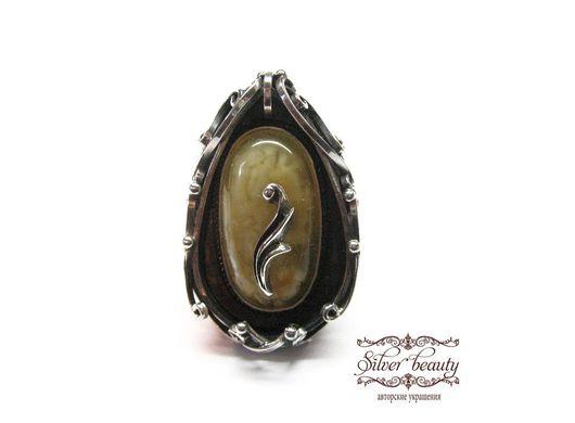 """Кольца ручной работы. Ярмарка Мастеров - ручная работа. Купить Кольцо серебряное с янтарем """"Гелия"""". Handmade. Серебро, камень, желтый"""