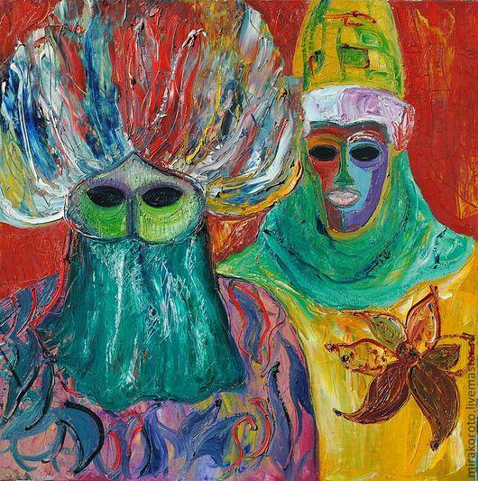 """Название картины """"Карнавал """" ,картина выполнена под впечатлением карнавала в Венеции....и ждем покупателя в моей мастерской !"""