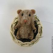 Куклы и игрушки ручной работы. Ярмарка Мастеров - ручная работа Хомячок в корзинке. Handmade.