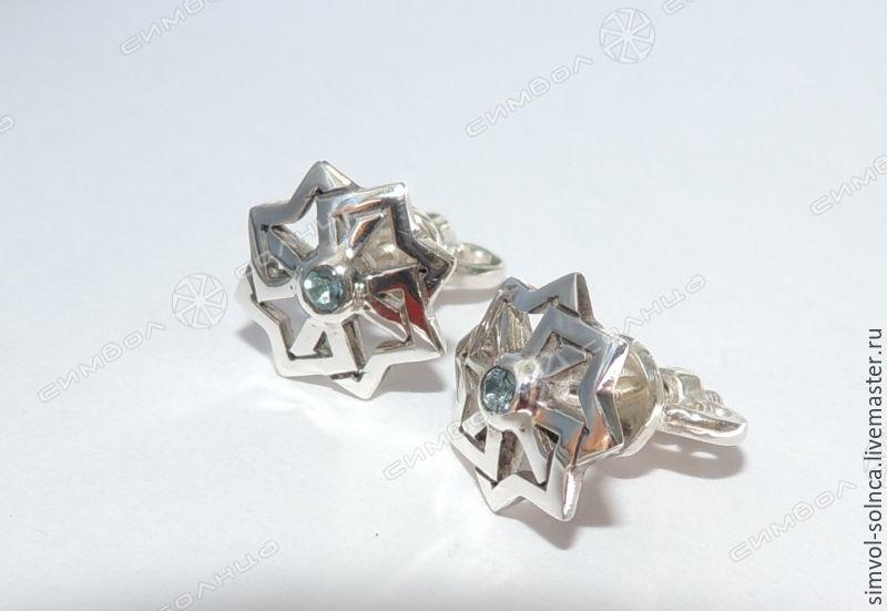 Earrings, Pusey Solvency, Folk decorations, Sochi,  Фото №1