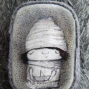 """Украшения ручной работы. Ярмарка Мастеров - ручная работа Броши """"Пепельный февраль"""". Handmade."""