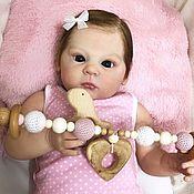 Подарок новорожденному ручной работы. Ярмарка Мастеров - ручная работа Растяжка в коляску « Нежность». Handmade.