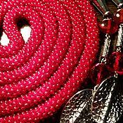 """Украшения ручной работы. Ярмарка Мастеров - ручная работа Лариат """"Маки"""". Handmade."""