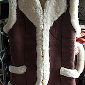 Одежда handmade. Livemaster - original item vests: Vest made of solid sheepskin. Handmade.