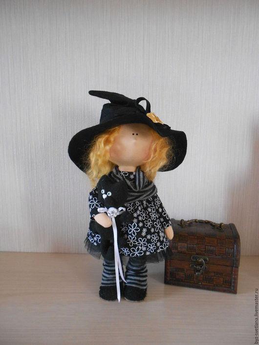 Коллекционные куклы ручной работы. Ярмарка Мастеров - ручная работа. Купить Кукла интерьерная Ведьмочка. Handmade. Черный, подарок подруге