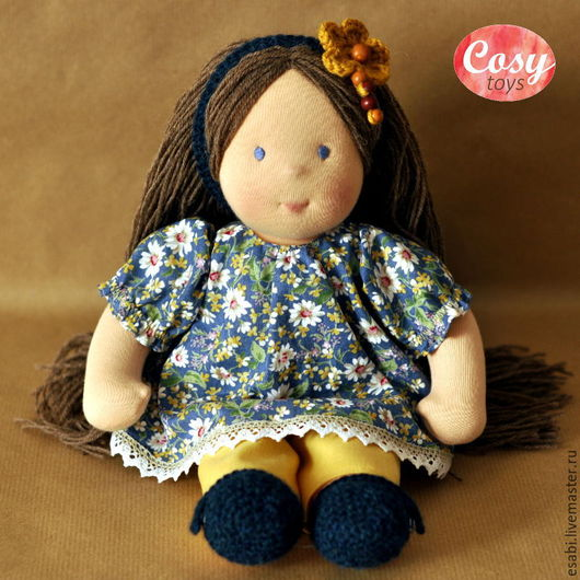 Вальдорфская игрушка ручной работы. Ярмарка Мастеров - ручная работа. Купить Кукла Майя Бесплатная доставка. Handmade. Разноцветный