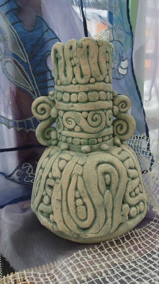 Вазы ручной работы. Ярмарка Мастеров - ручная работа. Купить Ваза- античная. Handmade. Бирюзовый, цветочниц
