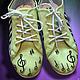 """Обувь ручной работы. Заказать Кеды низкие текстильные """"Музыкальные"""". Tkitsune. Ярмарка Мастеров. Клавиши, Кеды на заказ, обувь, текстиль"""