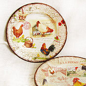 """Посуда ручной работы. Ярмарка Мастеров - ручная работа Тарелки """"На ферме"""". Handmade."""