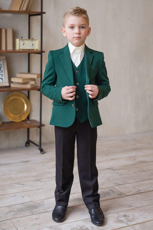 Зелёный школьный костюм для мальчика, Одежда, Москва, Фото №1