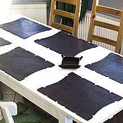Для дома и интерьера ручной работы. Ярмарка Мастеров - ручная работа Кожаные салфетки интерьерные декоративные, подстилки, коврики, бювар. Handmade.