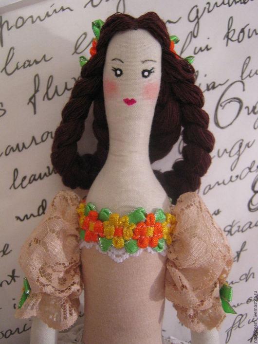 Куклы Тильды ручной работы. Ярмарка Мастеров - ручная работа. Купить Текстильная интерьерная кукла тильда. Handmade. Бежевый