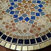 """Для дома и интерьера ручной работы. Ярмарка Мастеров - ручная работа Столик """"Морская звезда"""", мозаика. Handmade."""