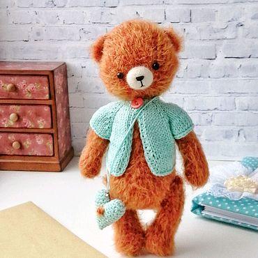 Куклы и игрушки ручной работы. Ярмарка Мастеров - ручная работа Мишка Карамельный 21см. Handmade.