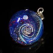 Украшения handmade. Livemaster - original item Pendant ball Vortex. Space Cosmos Lampwork Universe Galaxy. Handmade.