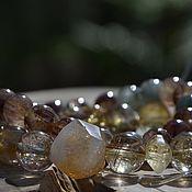 Украшения handmade. Livemaster - original item From chronic FATIGUE - Set of Bracelets made of quartz Venus Hair. Handmade.