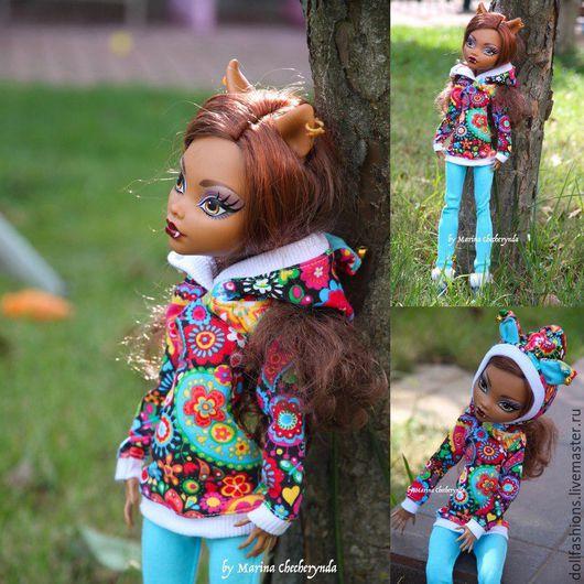 Одежда для кукол ручной работы. Ярмарка Мастеров - ручная работа. Купить Одежда для кукол Monster high 17'. Handmade. Оранжевый