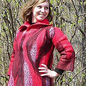 """Одежда ручной работы. Ярмарка Мастеров - ручная работа Пальто """"Красное Игристое"""". Handmade."""