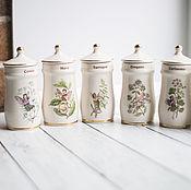 Винтаж ручной работы. Ярмарка Мастеров - ручная работа Баночки для специй Gresham, серия The Flower Fairy. Handmade.