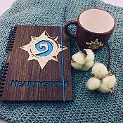 Канцелярские товары handmade. Livemaster - original item Hearthstone Wooden Notepad / Sketchbook. Handmade.