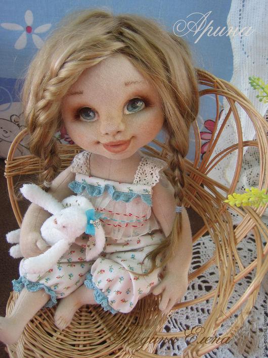 Коллекционные куклы ручной работы. Ярмарка Мастеров - ручная работа. Купить Аришка авторская текстильная кукла. Handmade. Комбинированный, улыбка