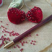 Украшения handmade. Livemaster - original item Brooch Cherries. Handmade.