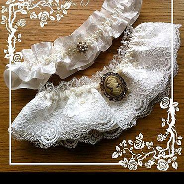 """Свадебный салон ручной работы. Ярмарка Мастеров - ручная работа Подвязка для невесты """"Винтаж"""". Handmade."""