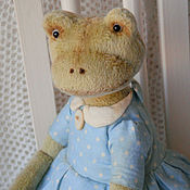 Куклы и игрушки ручной работы. Ярмарка Мастеров - ручная работа Дульсинея - Лягушка Тедди (купить лягушку, болотный). Handmade.