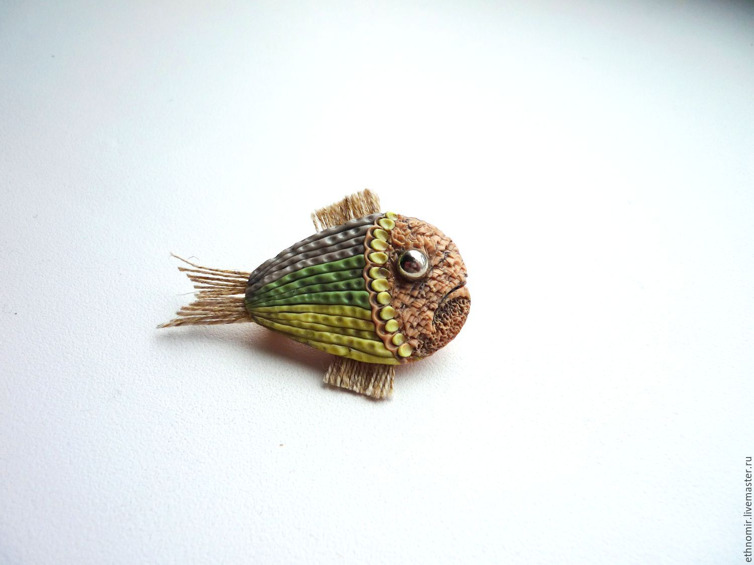 brooch, `fish` # `№1 series `fancy brooches`