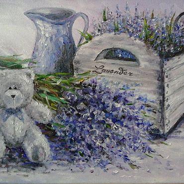Картины и панно ручной работы. Ярмарка Мастеров - ручная работа Картина маслом 30на40см Прованс Лаванда. Handmade.