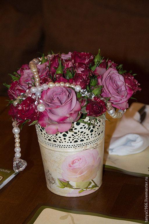 Свадебные цветы ручной работы. Ярмарка Мастеров - ручная работа. Купить Оформление дня рождения. Handmade. Сиреневый, день рождения