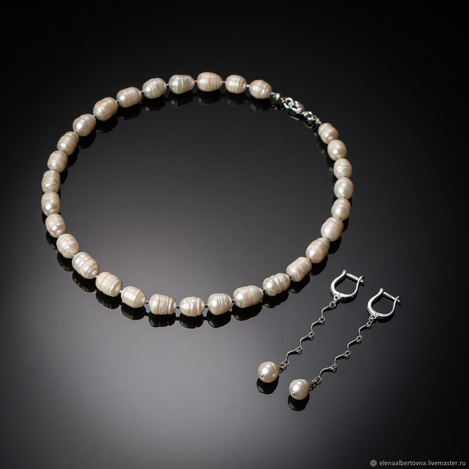 eabd86e5da6 Jewelry sets handmade. Fair Masters - handmade. Buy White pearl set of necklace  and ...