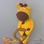 Куклы и игрушки handmade. Livemaster - original item Linguaglossa Giraffe Zhorik with juniper beads. Handmade.