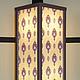 Витражный светильник ночник Франция каркас темно-коричневый