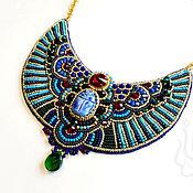 Украшения handmade. Livemaster - original item Necklace in the Egyptian style Scarab blue. Handmade.