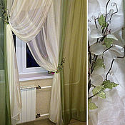 Для дома и интерьера handmade. Livemaster - original item Curtains for kitchen from microfoil